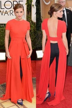 Emma Watson in Dior - Golden Globe Awards 2014