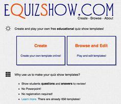 eQuizShow Online Templates