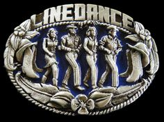 WESTERN COWBOY COWGIRL MUSIC OLD LINEDANCE BELT BUCKLE