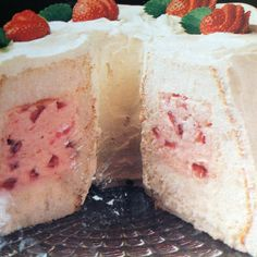 Strawberry Tunnel Cream Cake Recipe | Just A Pinch Recipes