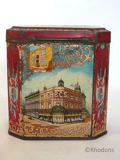 Antique Commemorative Advertising Tin Barnsley British by Rhodons, £25.00