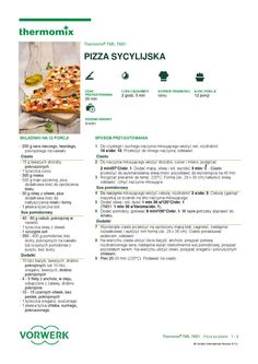Pizza sycylijska Naan Pizza, Italian Recipes, Make It Simple, Food And Drink, Impreza, Drinks, Cooking, Kitchen, Thermomix