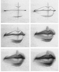 how to draw - mouth