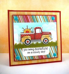 You Bring Sunshine Card by Taylor VanBruggen #Encouragement, #Cardmaking