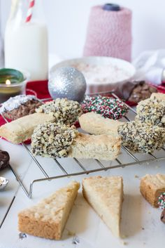 These chocolate dipped shortbread and brownie cookies are sure to be hits at your holiday parties.  www.passthecookies.com