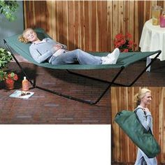 Portable Hammock - Easy to take to beach, park or your own backyard!