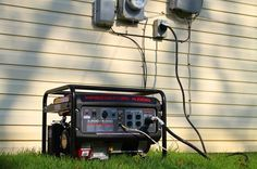 Using a portable generator with a manual transfer switch is the most affordable and safest way to power your home during a power outage. Diy Generator, Portable Generator, Power Generator, Emergency Generator, Homemade Generator, Survival Prepping, Emergency Preparedness, Emergency Planning, Survival Stuff