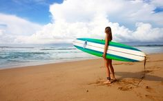 サーフィン, 女の子, 女性, サーファー, サーフボード, ボード