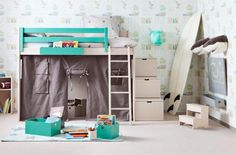 Liso Loft bed Height 163cm - 20 colours available by Asoral: 09.Coral