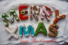 Tara Cornall:  Merry Christmas alphabet cookies.  ♡♡♡♡♡