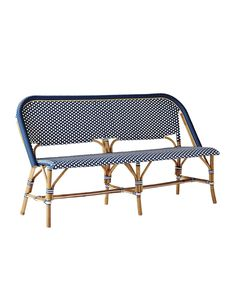 """Spotted this Serena & Lily """"Riviera"""" Bench on Rue La La. Shop (quickly! Chair Bench, Ottoman Bench, Bistro Chairs, Side Chairs, Dining Room Design, Dining Room Chairs, Kitchen Chairs, Dining Table, Outdoor Dining Furniture"""