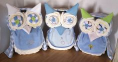 Boys Diaper Owls