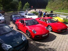 The red rocket hanging with friends while on a group trip through Germany . Aug 14,