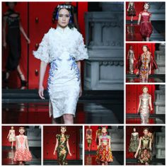 Cheongsam is a traditional Chinese dress and Sebastian Gunawan inspired them and present dresses with Baroque style