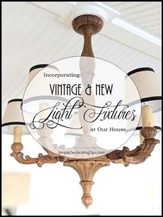 Incorporating Vintage & New Light Fixtures SimpleDecoratingT Vintage Light Fixtures, Vintage Lighting, Collapsible Dog Crate, Pulley Light, Brick Cottage, Crate Cover, Exposed Brick, Decorating Tips, Houses