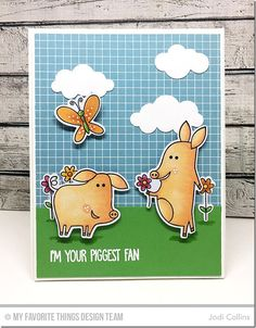 Sow Much Cuteness Stamp Set and Die-namics, Puffy Clouds Die-namics - Jodi Collins  #mftstamps