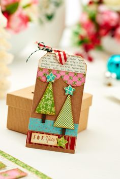 The perfect gift tags for your Christmas pressies / October 2014 issue of Crafts Beautiful