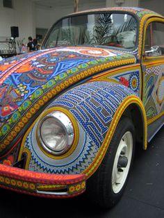 Beaded VW beetle by A30_Tsitika, via Flickr