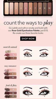 Elf cosmetic rose gold eyeshadow palette eye look Elf Eyeshadow Palette, Rose Gold Eyeshadow, Eyeshadow Looks, Eyeshadow Makeup, Makeup Dupes, How To Eyeshadow, Elf Palette, Applying Eyeshadow, Applying Makeup