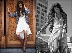 dress+flannel