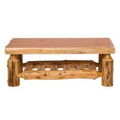 Traditional Cedar Log Coffee Table