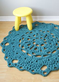 Crochet PATTERN  Throw Blanket / Rug Super by ErinBlacksDesigns, $6.00