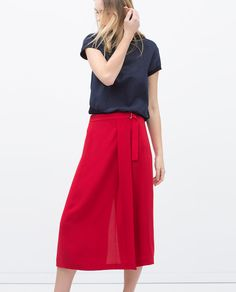43a69d8fcbe725 Image 2 of BUCKLE WAIST SARONG SKIRT from Zara Sweaters And Jeans