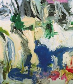 Two trees on Mary Street … Amen!, Willem de Kooning, 1975  From the collection of the Queensland Art Gallery in Brisbane, Australia