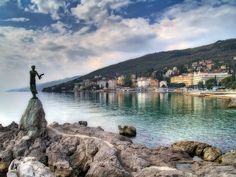Opatija Croatia is a town in western Croatia southwest of Rijeka. Opatija is full of old world glamour and fabulous villas overlooking the Adriatic. The Places Youll Go, Places To See, Les Balkans, Costa, E 500, Croatia Travel, Macedonia, Slovenia, Albania