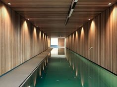 Indoor pool in a home in Fribourg, Switzerland designed by Ralph Germann Architectes