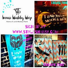 Weekly paint classes at Sonia's Shabby Chic! Book today at www.styleshabby.com!