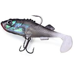 7.6cm Fishing Lure Soft Bait with Treble Tackle Hooks #CLICK! #clothing, #shoes, #jewelry, #women, #men, #hats, #watches