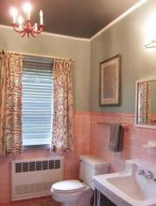 From French Provincial To Retro Modern Mike And Lindsey S Pink Bathroom Before After Pinterest Vintage Bathrooms Remodeling Ideas Tiles