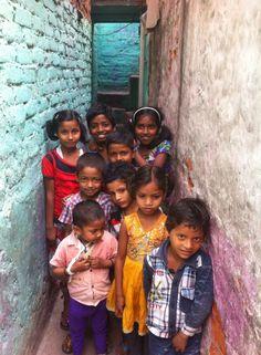 Kids from Okhla Slums.... Priceless smiles