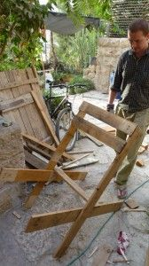 DIY wood pallet chair how to