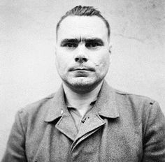 The face of the Nazi killer and sadist: Josef Kramer, commandant of the Bergen-Belsen concentration camp, shortly before his execution by hanging, December 1945.