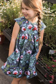 Geranium Dress in Amy Butler Josephine's Bouquet // Girl.Inspired.