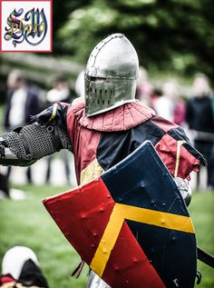 Sir Winchester from the Medieval Combat Society at the 14th Centuary Alliance, Tutbury Castle, June 2013 by Stephen Moss Photograhper