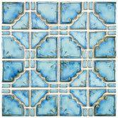 "Found it at Wayfair - Moonlight 11.75"" x 11.75"" Porcelain Mosaic Tile in Diva Blue"