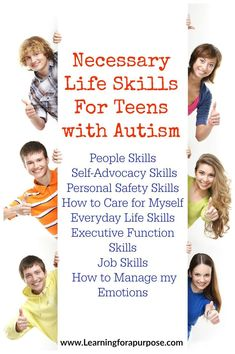 Have a teen with autism? Check out our Necessary Life Skills for Teens with Autism and learn what skills you can help teach them as they transition to adulthood. Check them out at www.learningforapurpose.com
