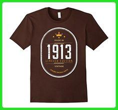 Mens Vintage 1913 Birthday Gift Idea T Shirt Small Brown - Birthday shirts (*Amazon Partner-Link)