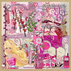 Vintage barbie scrapbook paper