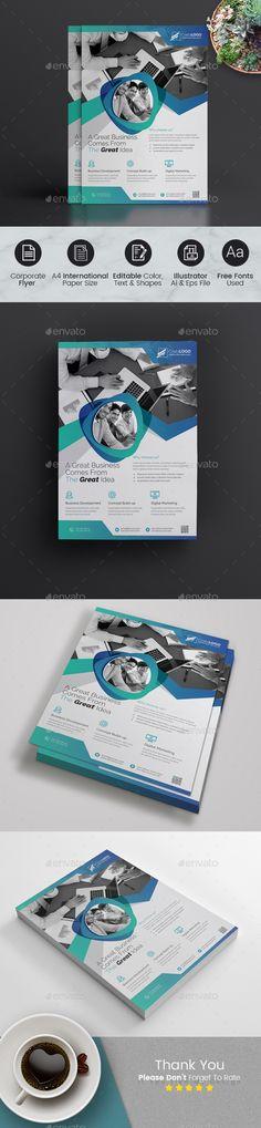 Business Flyer Design Template Vector EPS, AI Illustrator