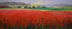Hornchurch Fine Art Fields of Red No.1 - Miguel Torres - Artist Originals
