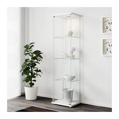 IKEA - DETOLF, Glass-door cabinet, With a glass-door cabinet, you can show off as well as protect your glassware or your favorite collection.You can easily brighten up your display objects as the glass-door cabinet is designed to include lighting. Glass Cabinet Doors, Sideboard Cabinet, Glass Shelves, Glass Door, Ikea Glass Display Cabinet, Glass Cabinets, Wall Shelves, Kitchen Cabinets, Ikea Detolf