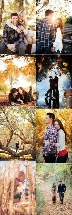 Engagement Photos » 23 Creative Fall Engagement Photo Shoots Ideas I Should've Had Myself! » ❤️ More: http://www.weddinginclude.com/2017/06/creative-fall-engagement-photo-shoots-ideas/