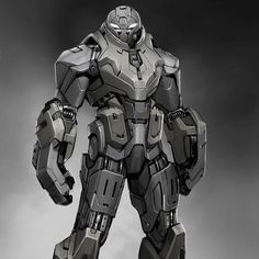 """This is an early bad guy design from Iron Man 2 that had a big influence on how the military drones turned out at the end of the film!  #ironman2 #badguy…"""