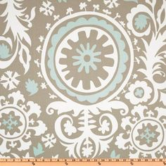 Dining Room Curtains - Premier Prints Suzani Twill Powder Blue