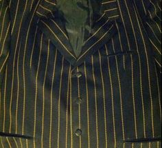 Men's Falcone Black With Gold Stripes Suit Jacket 54R Big And Tall Pimp #Falcone #FourButton