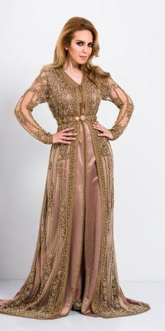 "Kaftan Fes - Collection ""Four Seasons"" Kaftan Moroccan, Morrocan Dress, Abaya Fashion, Fashion Dresses, Muslim Fashion, Arabic Dress, Kaftan Tops, Hijab Evening Dress, Hijab Dress"